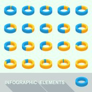 Infographic elements - circle diagrams
