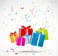 Celebration background with colorful gift box
