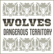 Retro ornament - wolves and inscriptions