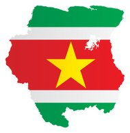 Design Flag-Map of Suriname