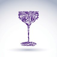 Creative goblet with floral ethnic tracery, relaxation