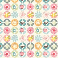 Seamless stylish flower pattern