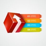 Vector box with arrow. Infographics concept.