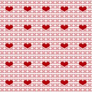 Simple seamless heart valentine background