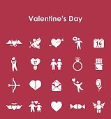 Set of Valentine's Day simple icons
