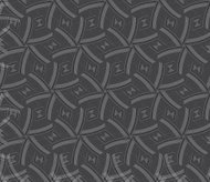 Repeating ornament gray and red lines forming hexagons