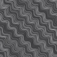 Repeating ornament gray and white diagonal wavy