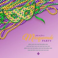Mardi Gras Party Mask Notice