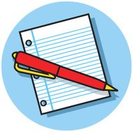 pen and notepaper icon