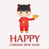 Happy Chinese New Year Greetings ,Happy Girl