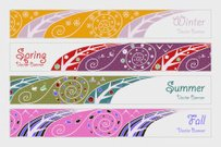 Banners with four seasons