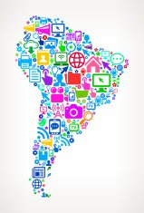 South America Technology and Internet royalty free vector art Pa