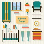 Baby room icons