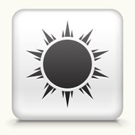 Square Button with Sun