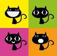 Cats character colorful, cats colorful vector, cat vector