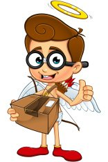 Geeky Cupid - Holding Parcel