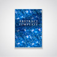 blue mosaic background design for book cover