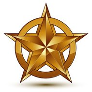 Vector glorious glossy design element, luxury 3d golden star