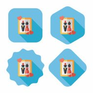 wedding photo flat icon with long shadow,eps10