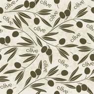Seamless pattern with olive branch.