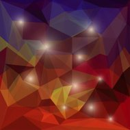 Abstract bright colored polygonal geometric triangular backgroun