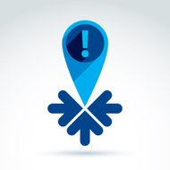 Information gathering and exchange theme icon, vector conceptual