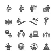 business and human resource management icon set 3, vector eps10