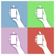 Graphic hand hold object concept,Vector idea concept