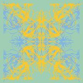 Mandala. Decorative lace pattern, vintage ornament with many overlapping details