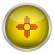 Glossy Button - Flag of New Mexico