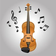 Violin melodies vector illustration