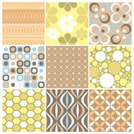 Another set of nine funky retro seamless patterns