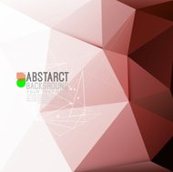 abstract modern polygon background in red tone, vector illustrat