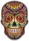 Print mexican traditional skull for T-shirt