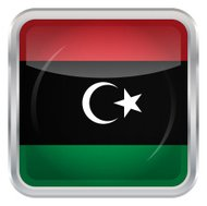 Glossy Button - Flag of Libya