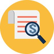 Vector Magnifying Glass and Receipt Flat Illustration