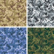 Vector Camouflage in 4 colors - Woodland