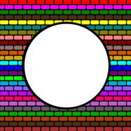 Abstract brick colorful background