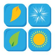 Four Seasons, icon set