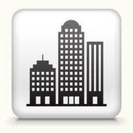 Square Button with Office Buildings royalty free vector art