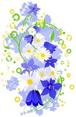 floral abstract elements for you design