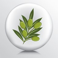 Round Icon With Olive Branch