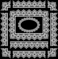 Seamless Victorian Lace Trim, Border and Frame
