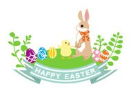 Easter Bunny and Chick-Clip Art