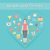 Woman Health and Fitness Infographics