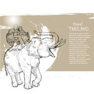 Travel with elephant. Thailand Travel concept.