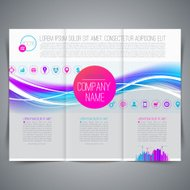 Template leaflet design, with colorful abstract shape and busine