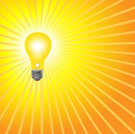 Super Bright Yellow Light Bulb Shines
