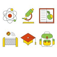 Vector education and science concept. Flat design