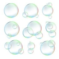 Set  of  bubbles on white background